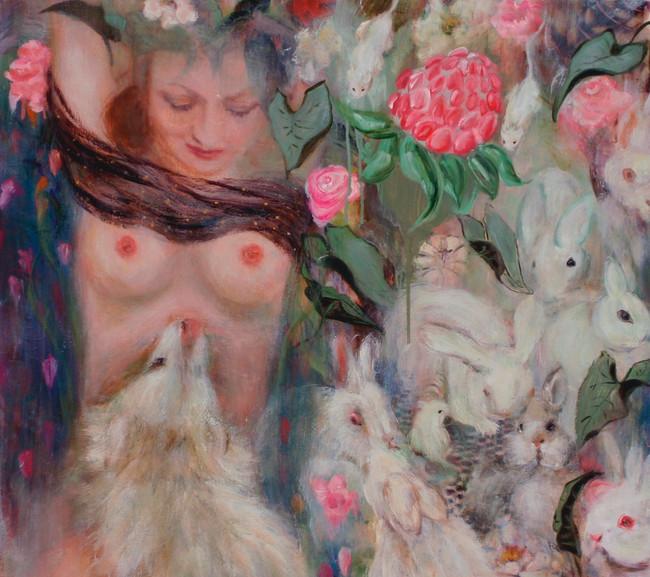 "In the Hanging Garden, 2008, oil on linen, 36""x48"", 91cm x 122cm"