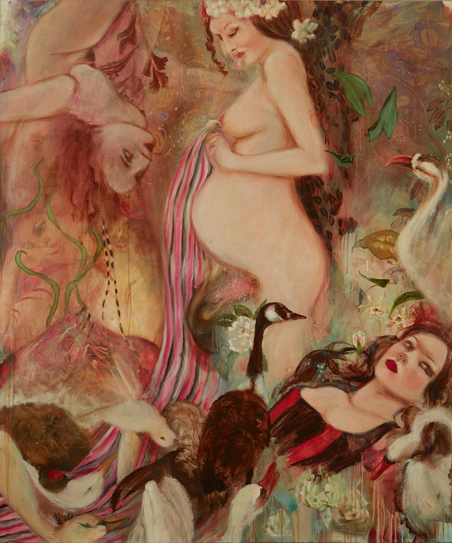 """Goose Walking Over My Grave, 2006, oil on canvas, 60""""x72"""", 152cm x 183cm"""