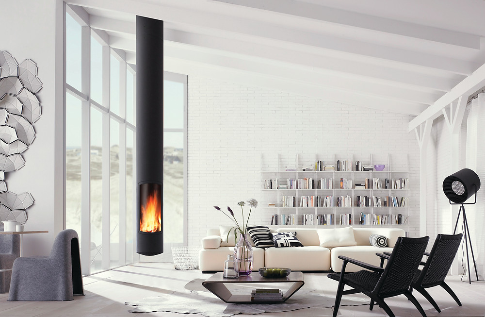 Contemporary Slimfocus, DEFRA approved fireplace from Focus