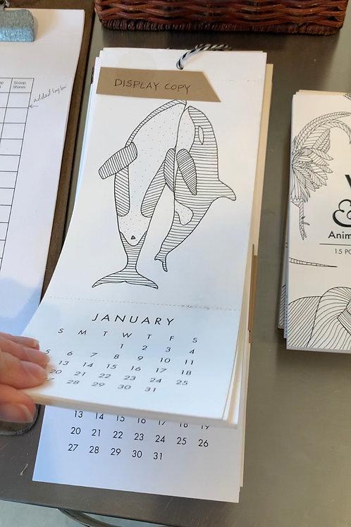 Coloring Postcard Calendar