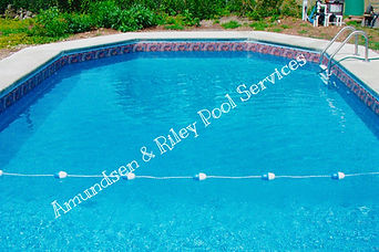 finished liner installation, beautiful pool, liner installation, liner repair