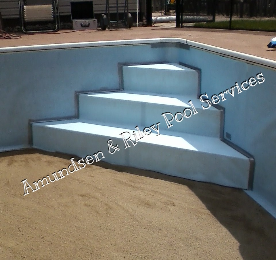 Steel step install