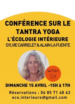 Conférence Tantra yoga à Paris de 15h à 17h le 15 avril 19 rue Camille Desmoulins 75011