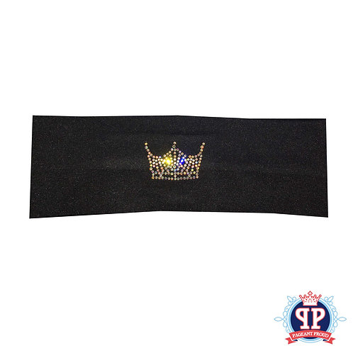 Bling Crown Headband- Black