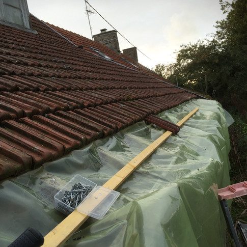 My first job was to work on getting the property watertight