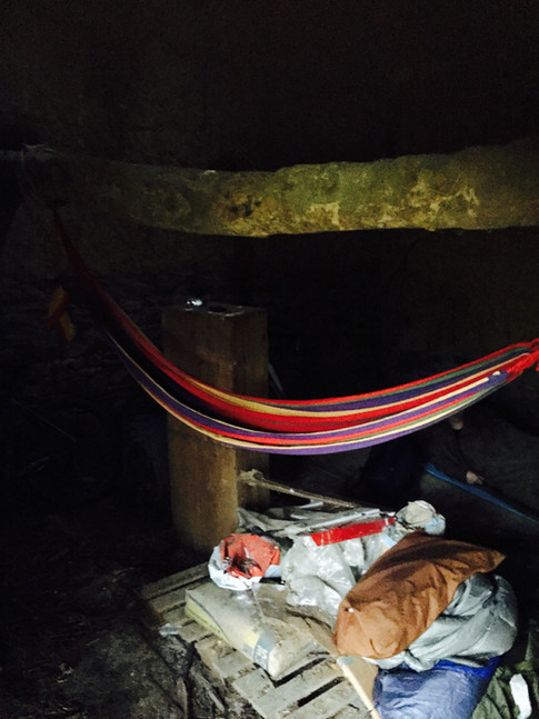My temporary bed in the barn, while the house was inhabitable!