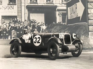 1928 Alvis Front Wheel Drive car  2nd Tourist Trophy Race