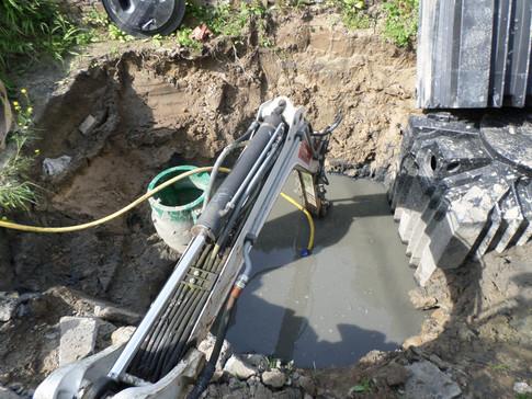 The far too long a saga of installing the septic tank