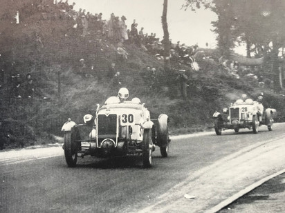 Class winners during 1930 Ulster tourist trophy race