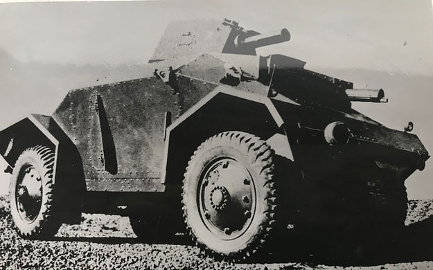 Alvis Armoured Car capable of 40 mph driven by Alvis 4.3 litre engine