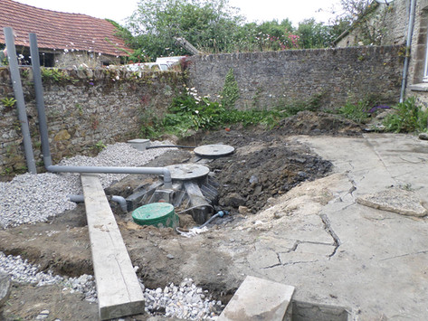 The far too long a saga of installing the septic tank