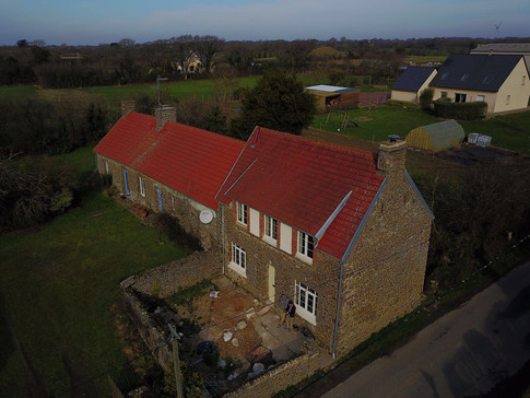An aerial of part of the project