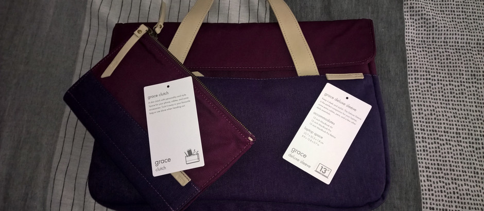 """STM Grace Deluxe Sleeve 13"""" & Grace Clutch Review is now Live!"""