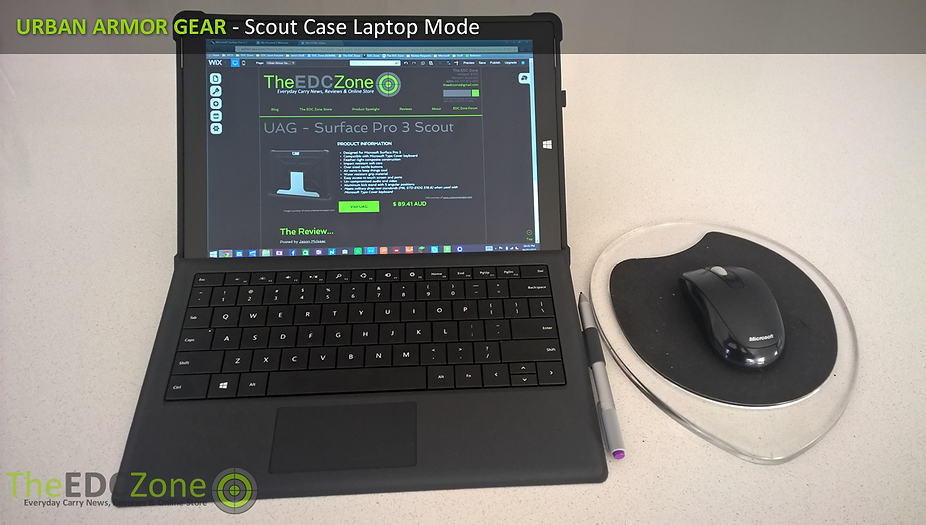 UAG Scout case for Surface Pro 3 in laptop mode