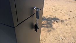 Using the Orbitkey to open the letterbox