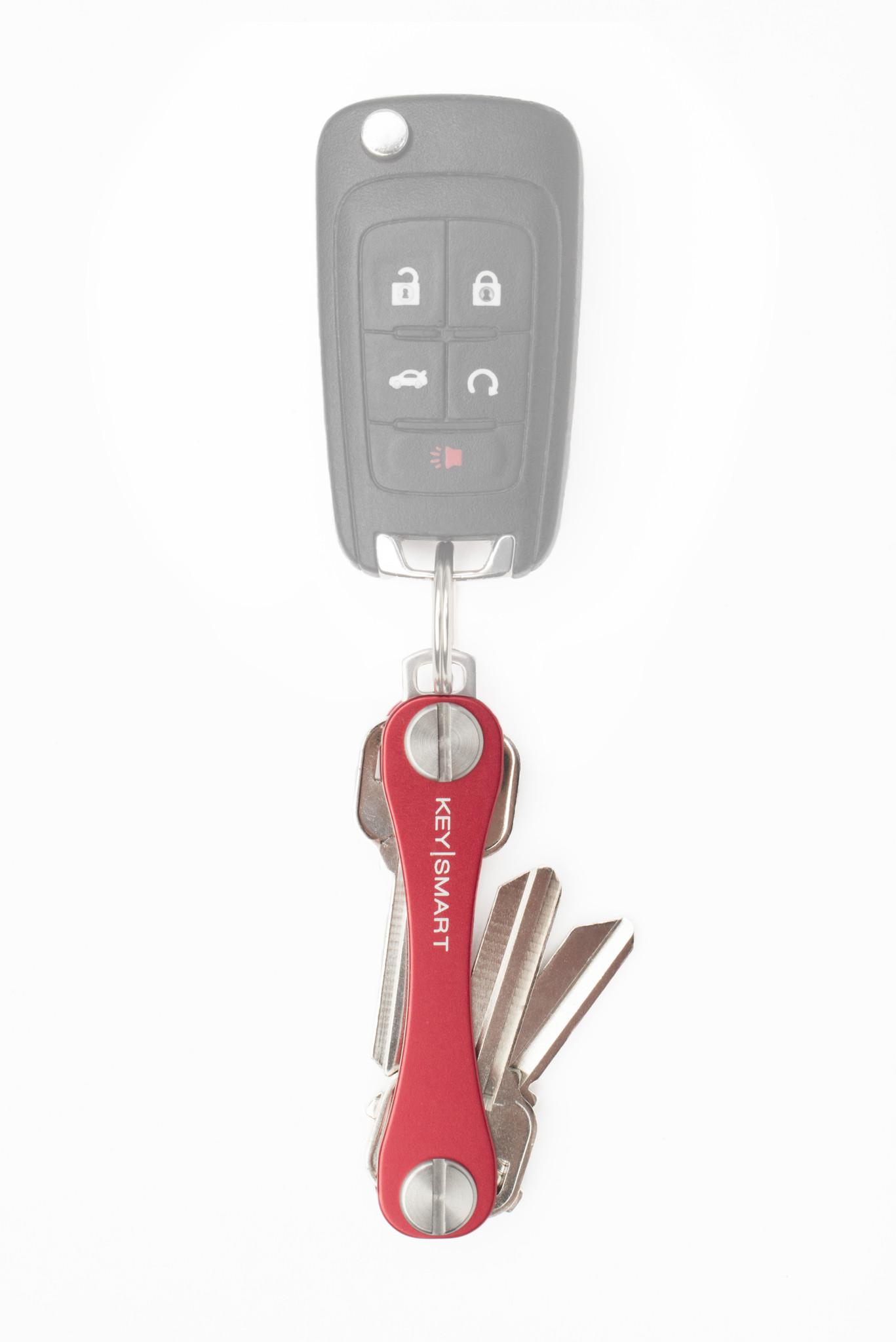 Red KeySmart with Car Fob