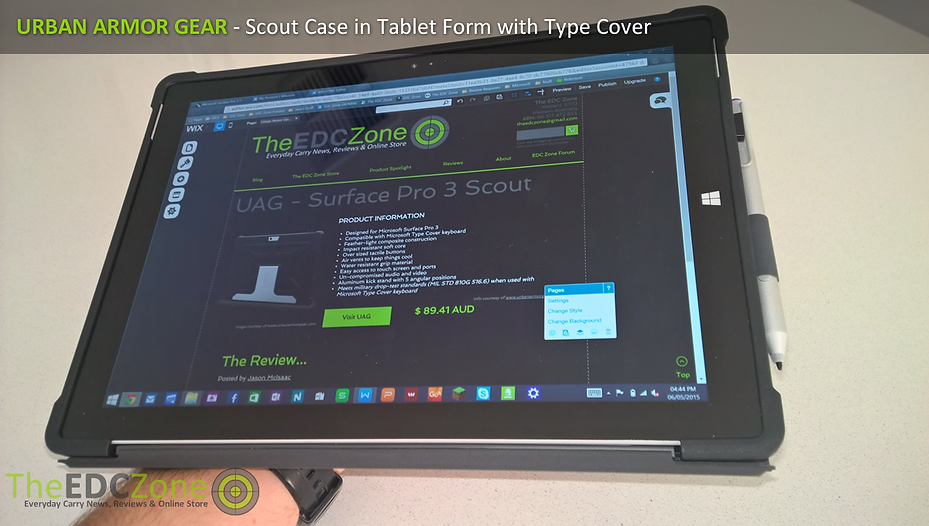 UAG Scout case for Surface Pro 3 in Tablet mode