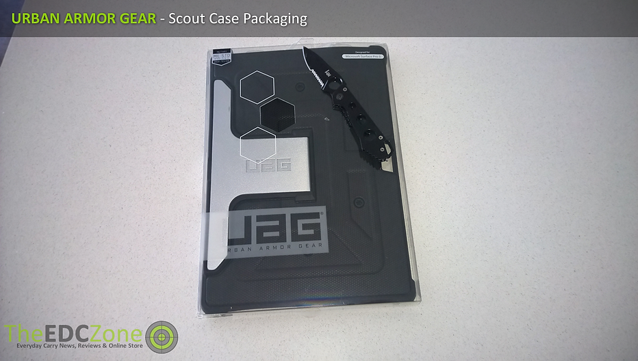 Checking out the UAG Scout packaging, with Benchmade HK Ally Folder