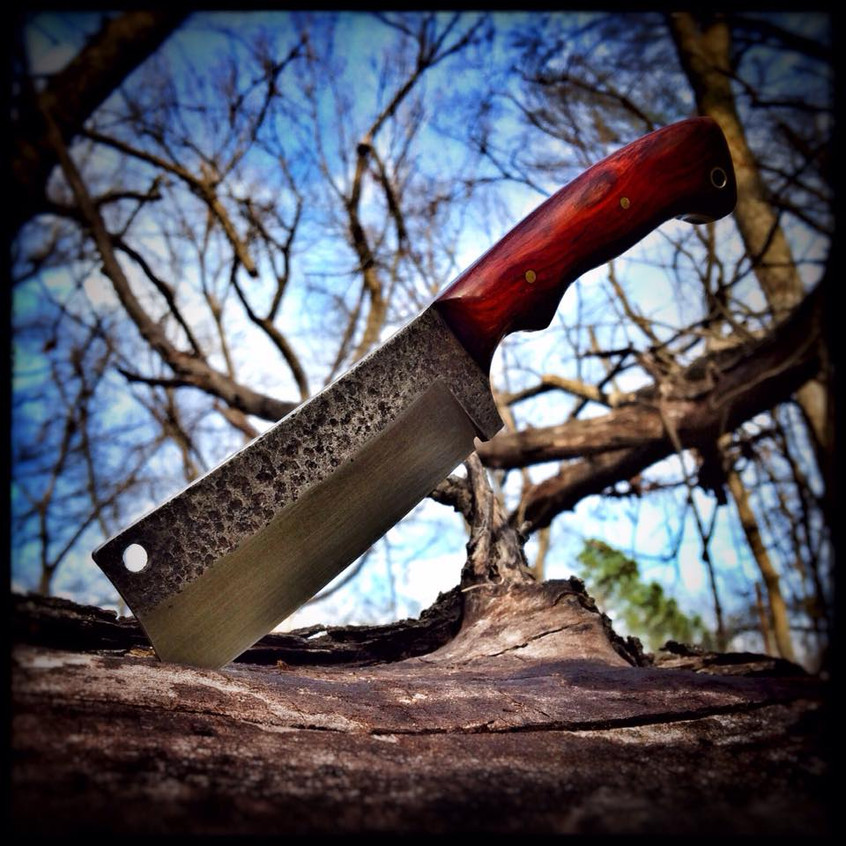Hand forged cleaver