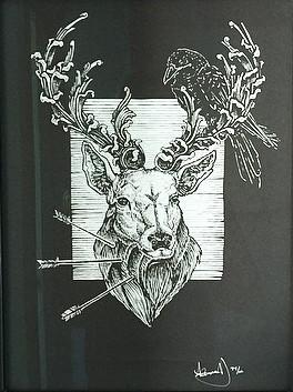 Alzig Rune Stag by Alexandria Noel