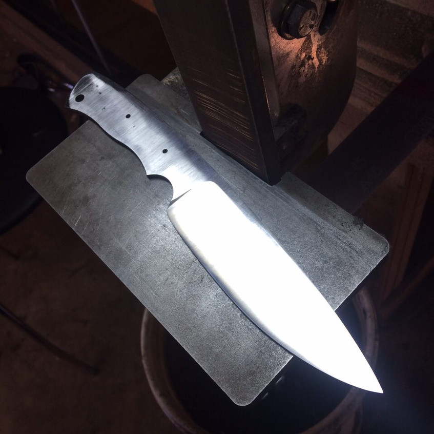 Blade blank with preliminary grind
