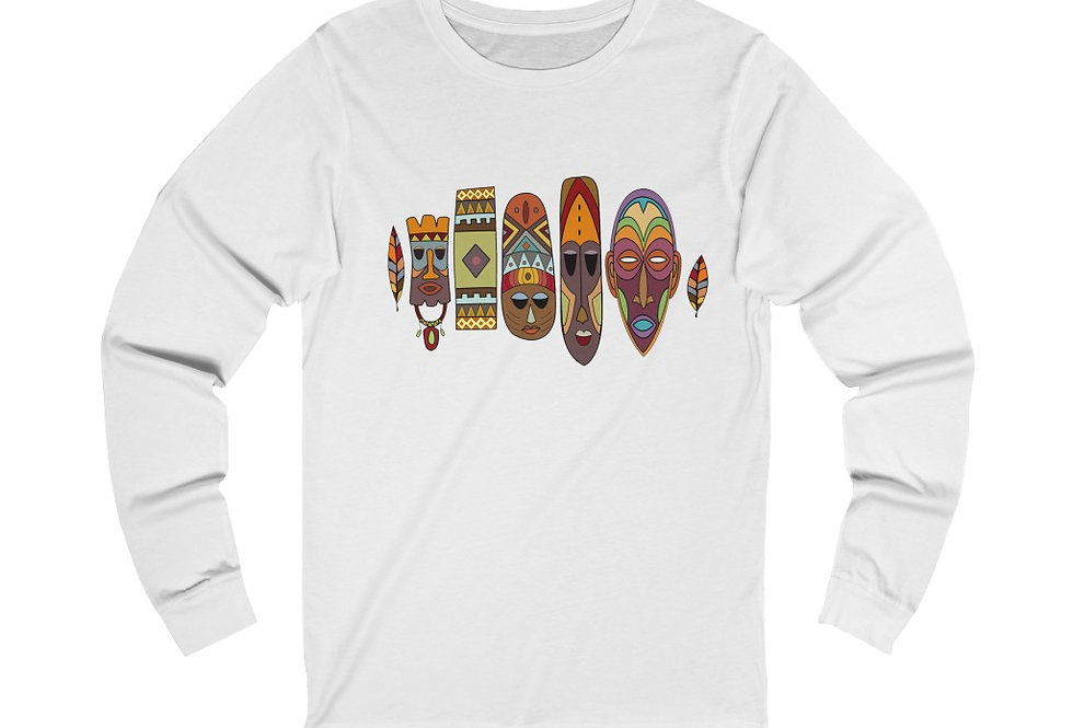 Colourful Masks Long Sleeve Tee