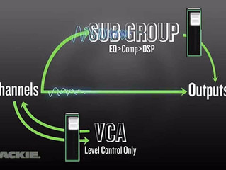 Identifying Signal Flow Differentiation Between VCA's, DCA's, and Subgroups