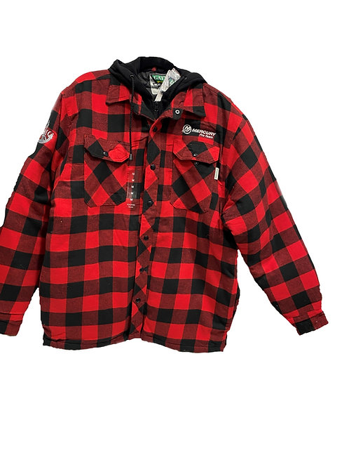 Red/Black Flannel Lined Jacket  (Unisex)