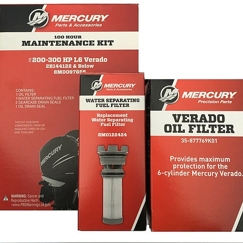 200-300HP L6 Verado -- 100 Hour Maintenace Kit  (2B144122 & Below)