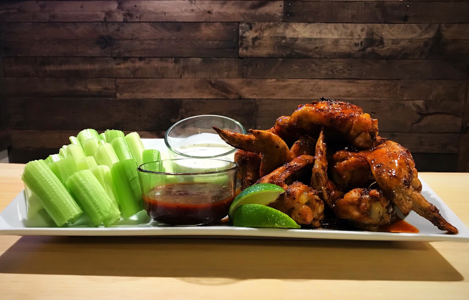 Baked Chipotle Honey Lime Wings