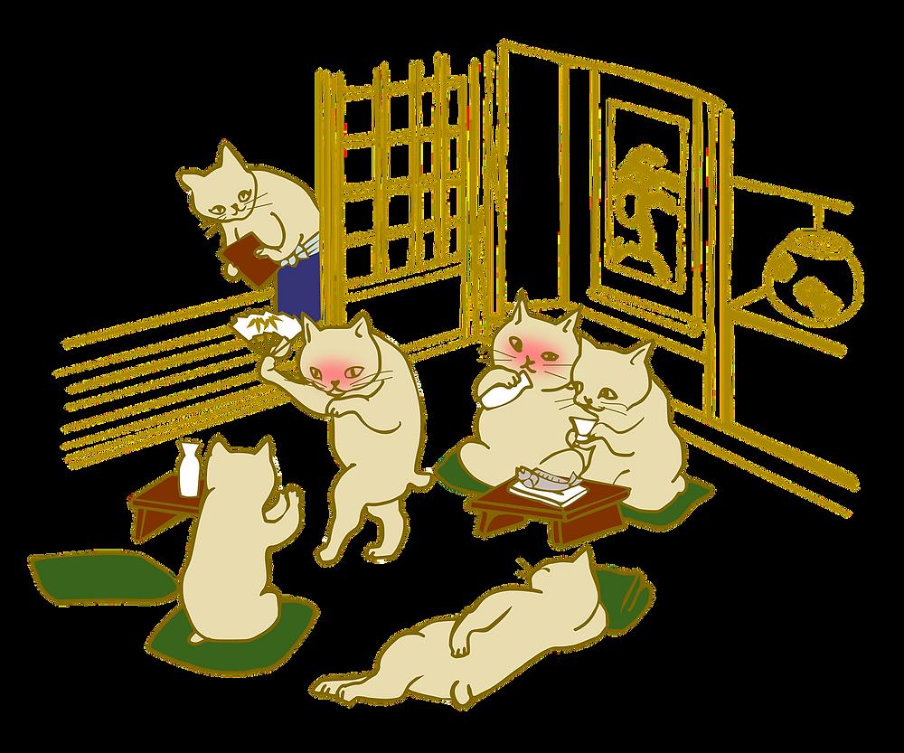 宴会 懇親会 猫