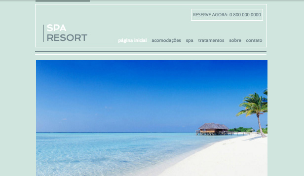 Hotéis website templates –  Resort e Spa