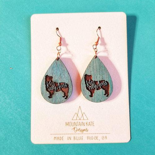 Kiss my Auss Dangle Earrings