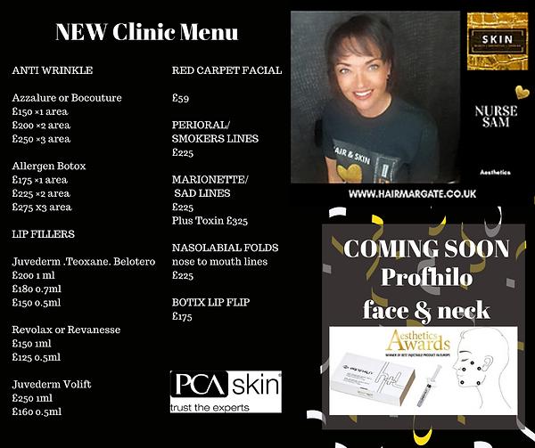 Sam clinc menu.png
