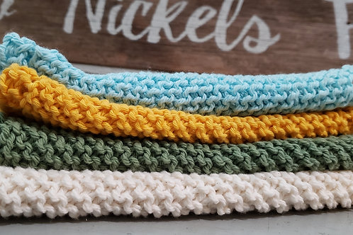Homemade Knitted Dish Cloths