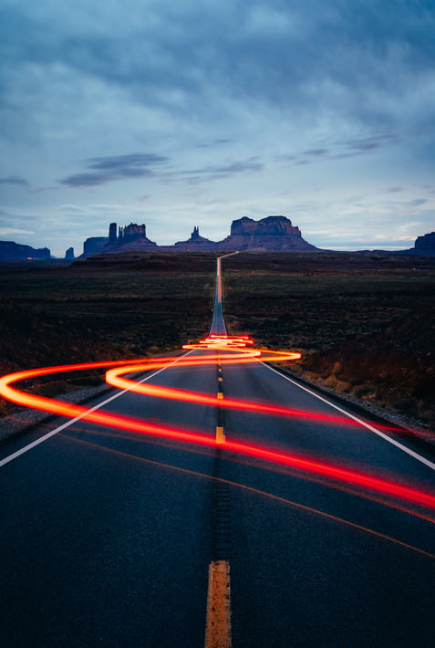 Monument Valley Light Trails