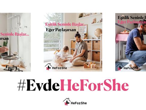 Ünlü İsimlerden #EvdeHeForShe Kampanyasına Destek!