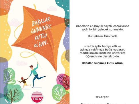 Babalar Günü'nün en özel ve anlamlı hediyesi Türk Eğitim Vakfı'ndan: