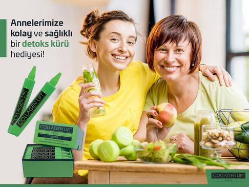 Annelerimize kolay ve sağlıklı bir detoks kürü hediyesi... Collagen Lift Paris'ten 'yemyeşil' Detoks