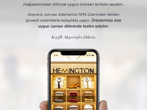 HEMINGTON'DAN ONLINE ALIŞVERİŞ DENEYİMİNDE YENİLİK