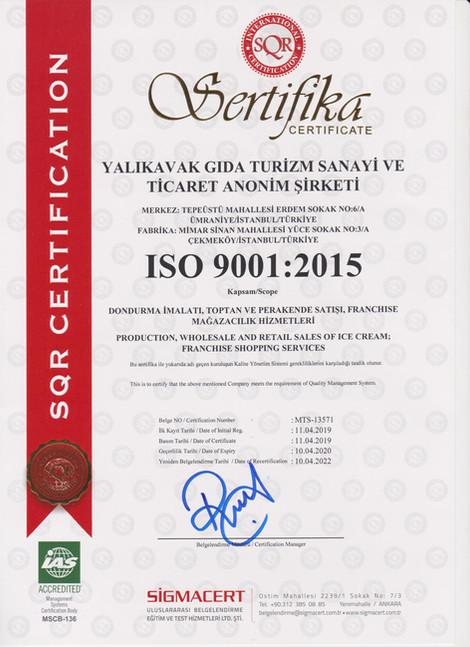 ISO9001 Kalite Belgemiz