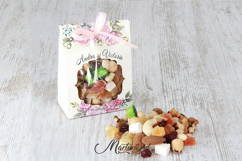 Cutiuțe cu asorti de nuci si fructe uscate NF-006