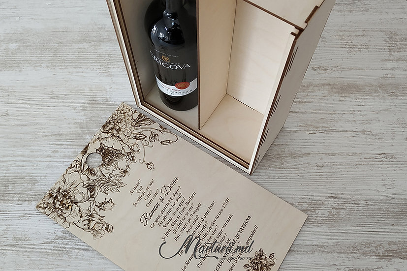 IN-043 Cutie pentru vin invitatie nasilor