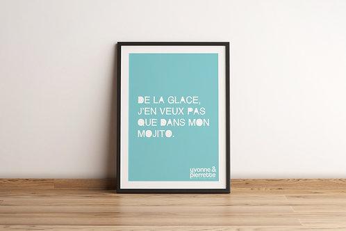 Affiche - Glace (29,7x42)