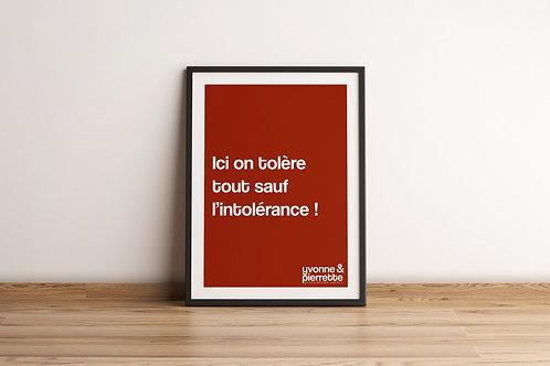 Affiche - Tolérance (29,7x42)
