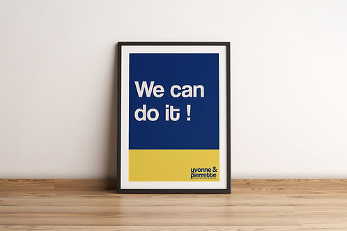 Affiche - We can do it (29,7x42)