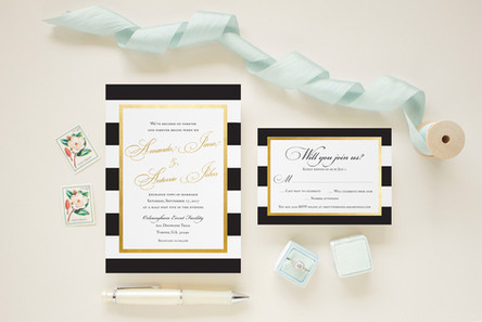 Classic Gold Foil and Black