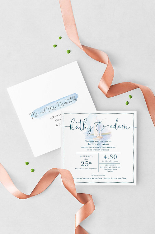 Nautical Dreams Wedding Invitation Set