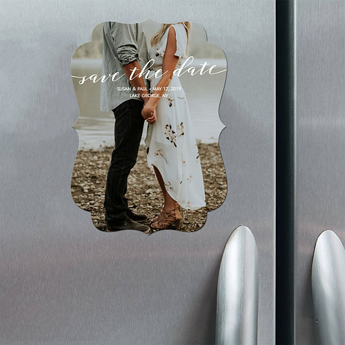 Rustic Save The Date - Magnet