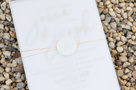 Gold and Cream Wax Seal with Vellum JAcket